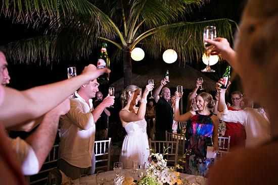 Toast At Bali Wedding