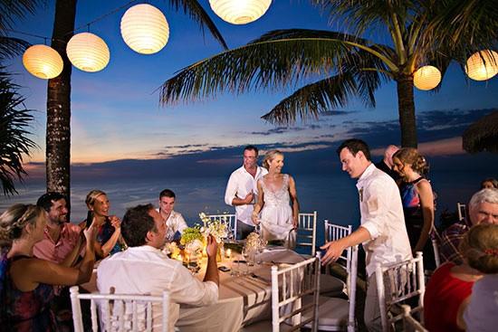 Wedding Reception Under The Stars Bali