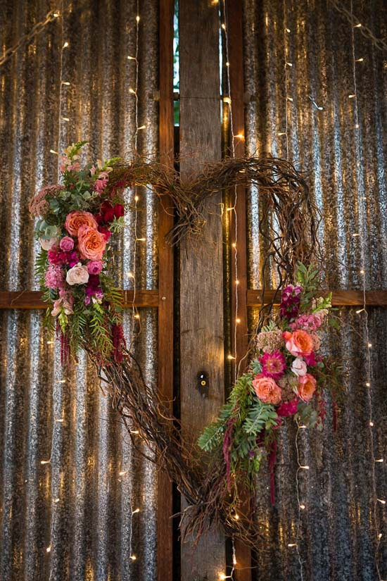 Willow Heart With Flowers
