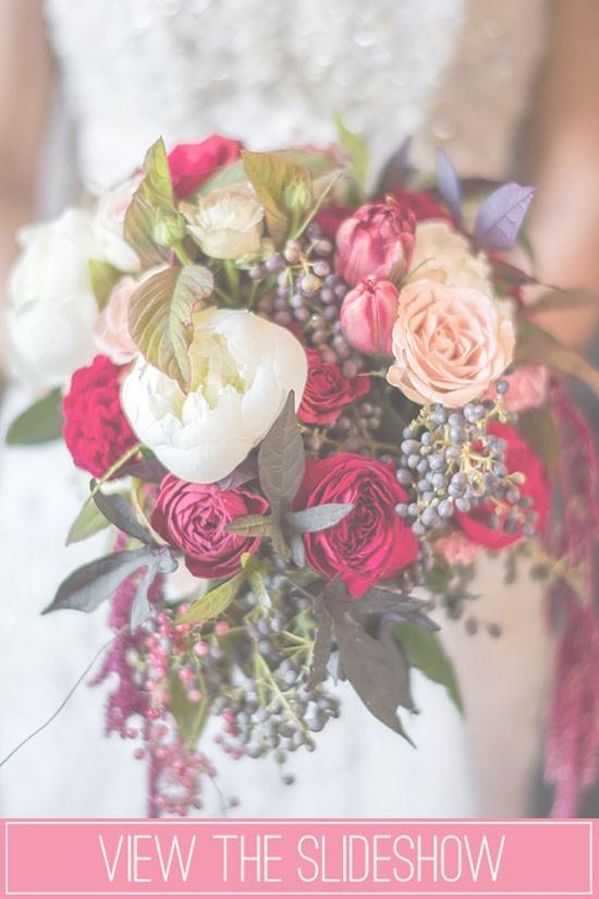 Winter wedding bouquet slideshow