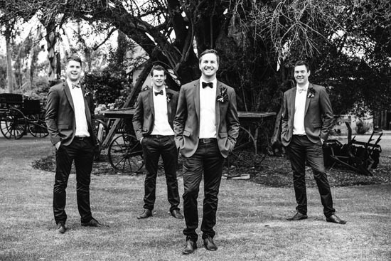 bridal party in zara suits