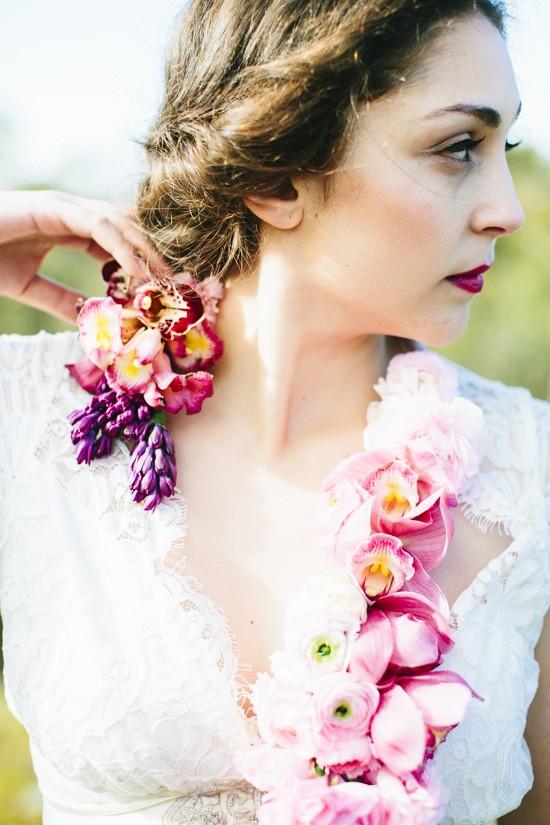 floral neck piece