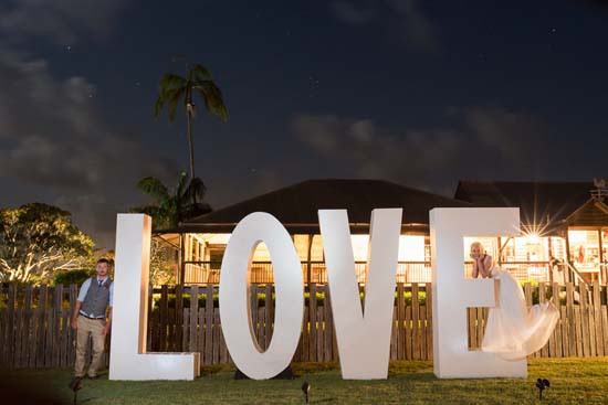 oversize love sign