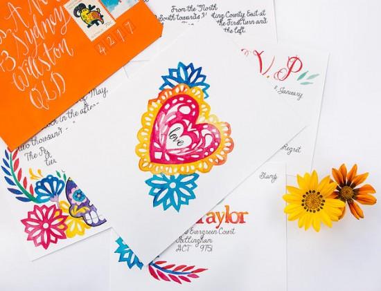 watercolour wedding invitations0011