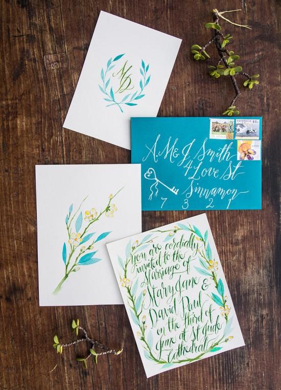 watercolour wedding invitations0013