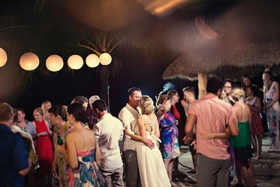 wedding reception dancing in bali
