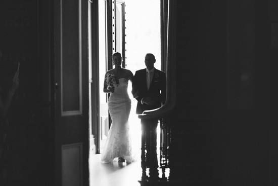 Bride and father at Fitzroy Towl Hall Wedding