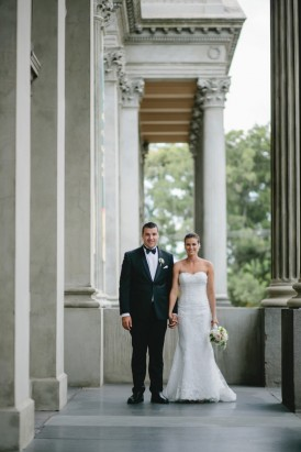 Bride and groom at Fotzroy Town Hall