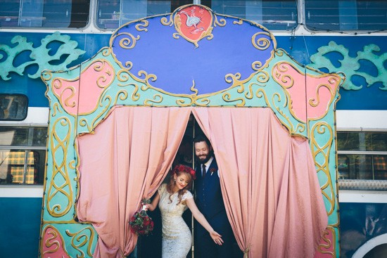 Fairground wedding photos