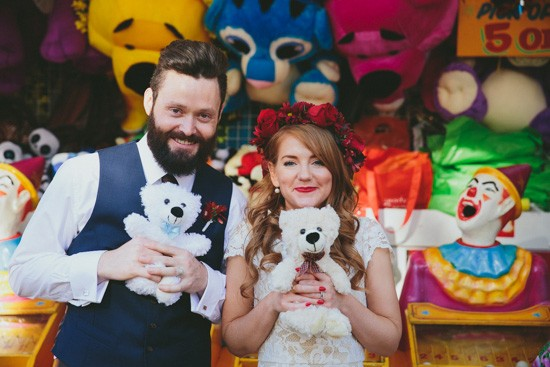 Festival wedding photo