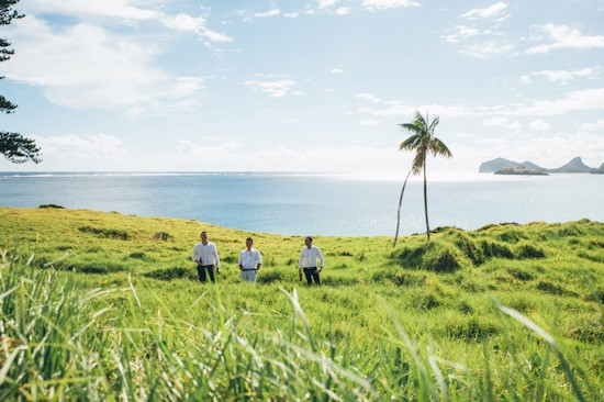 Groom and groomsmen on Lord Howe Island