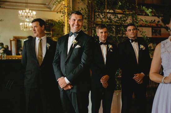Groom at Fotzroy Town Hall Wedding
