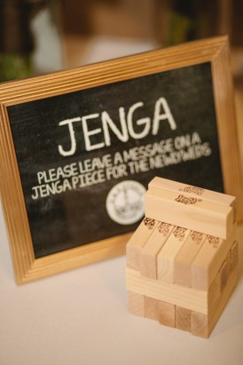 Jenga wedding guestbook