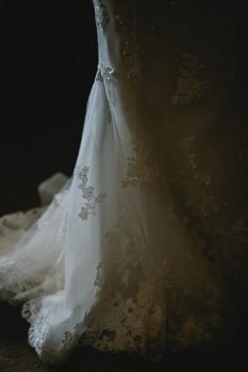 Lace wedding train