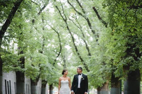 Melbourne avenue of trees wedding photo