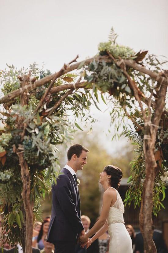 Melbourne vineyard wedding ceremony