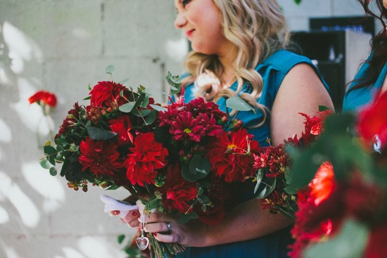 Red flower bouquets
