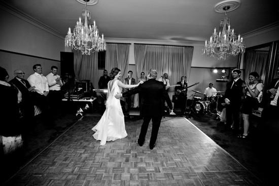 Wedding dance floor at Gunners Barracks
