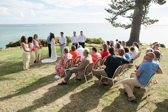 Wedding location at Lord Howe Island