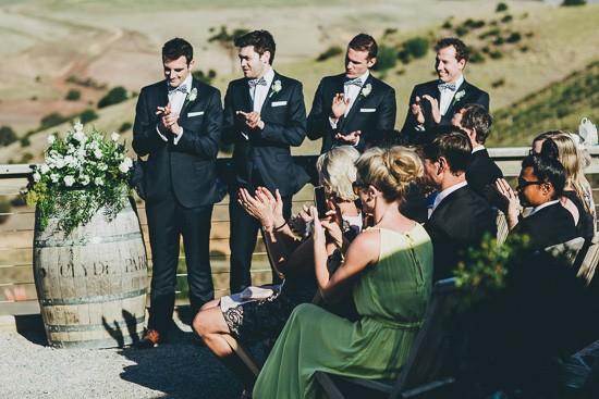 Applauding Newlyweds