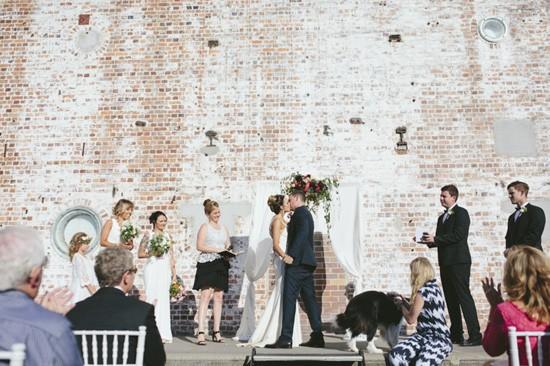 Brick wall wedding backdrop