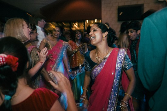 Bride dancing at Indian Wedding