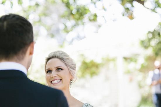 Bride with blonde hair