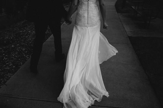 Bride with long elegant train