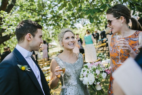 Champagne at Melbourne wedding