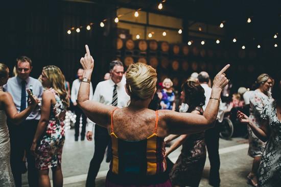Clyde Park winery wedding dance