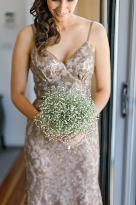 Coffeee colour wedding dress