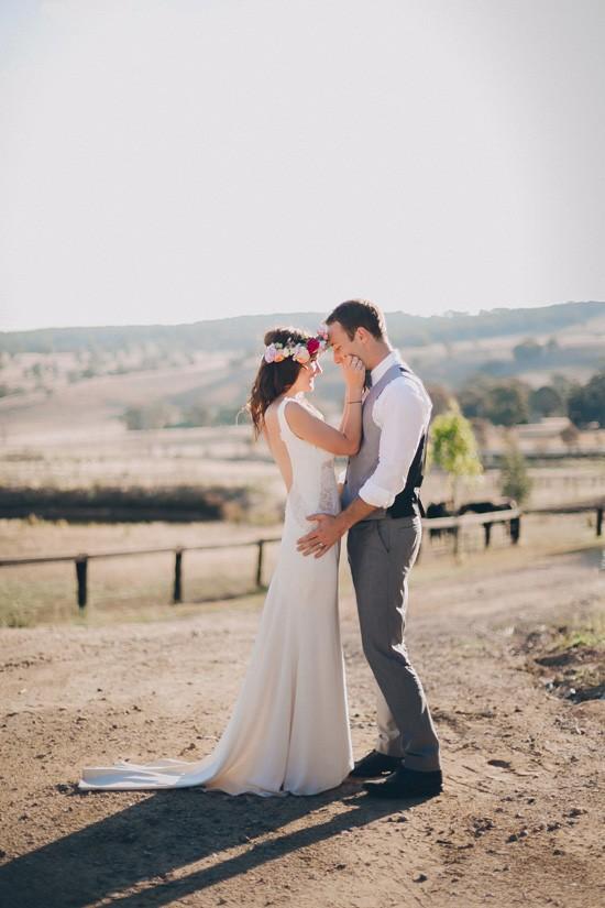 Country wedding potrait