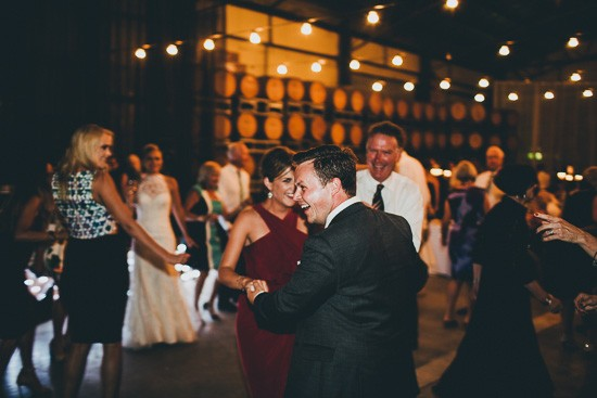 Dance floor at winery