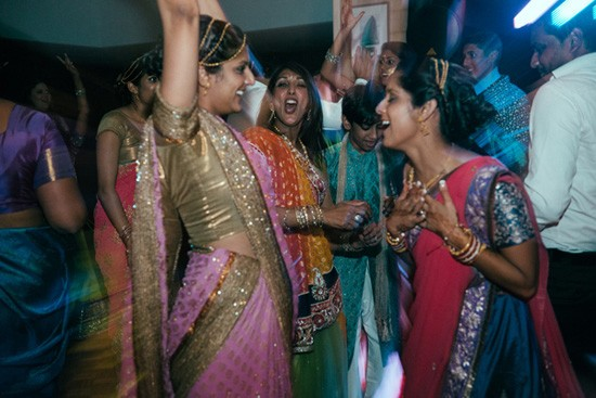 Dancing at Australian Indian wedding