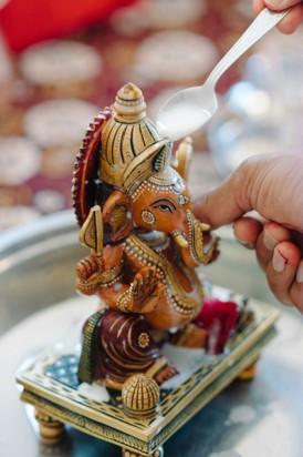 Elephant at Indian wedding