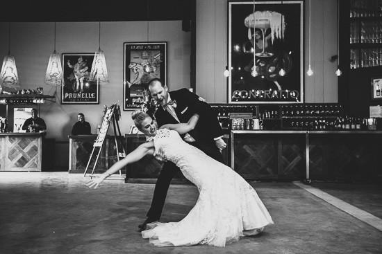 First dance dip at wedding