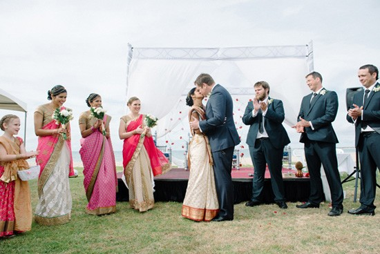 First kiss at indian wedding