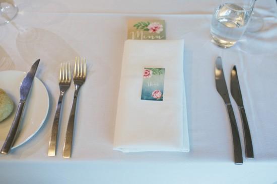 Floral printed menu