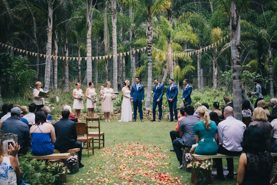 Forest backdrop for south coast wedding