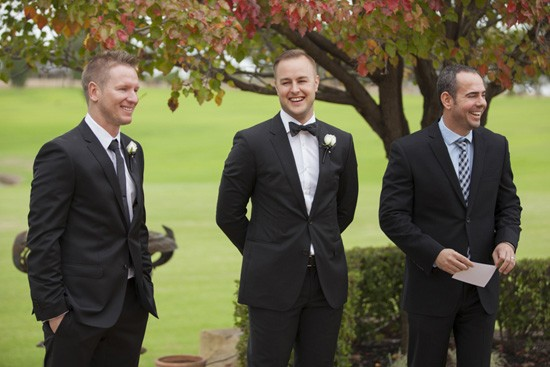 Formal winery wedding