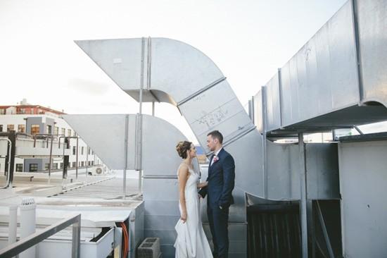 Industrial style wedding photo