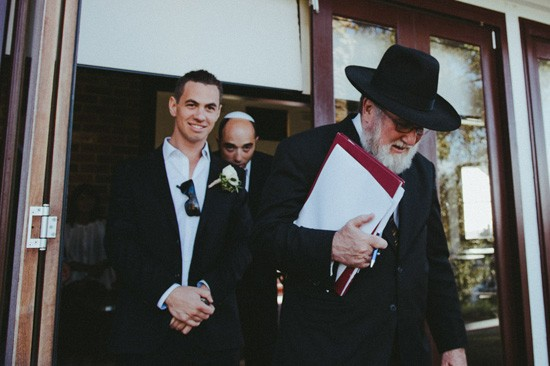 Jewiish wedding beginning