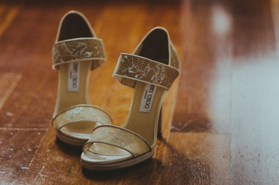 Jimmy Choo Gold Wedding Shoes