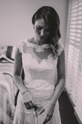 Lace wedding dress by Fara Couture