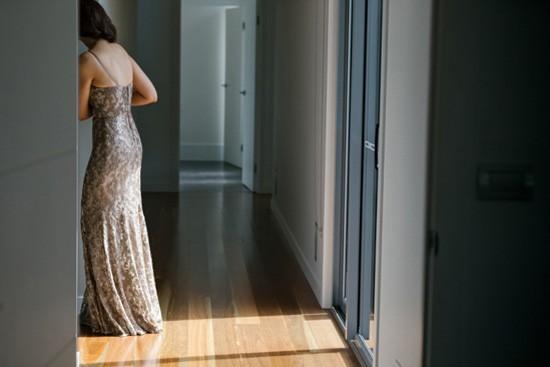 Latte wedding dress