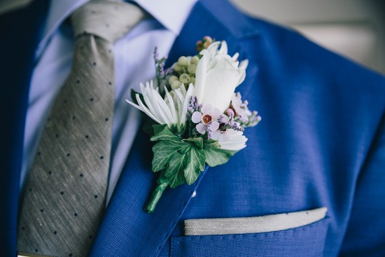 Lilac and white boutonerrie