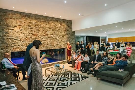 Modern home wedding