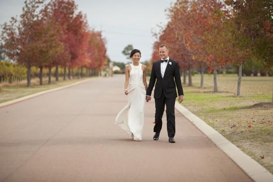 Modern winery wedding