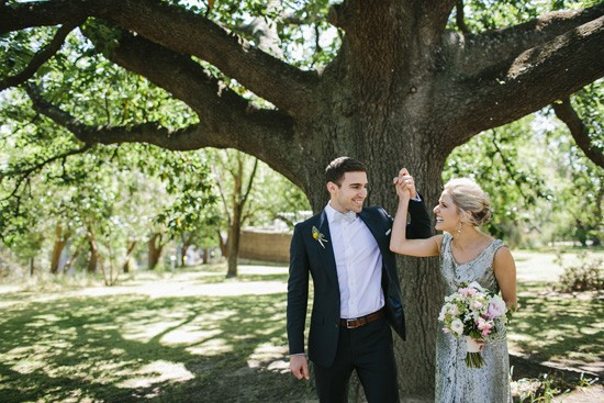 Oak tree wedding cereony