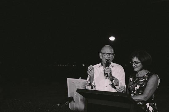 Parents giving wedding speech